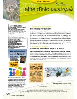 Lettre d'info n° 14 – Mars 2017