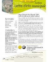 Lettre d'info n° 2 – octobre 2014