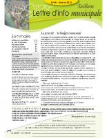 Lettre d'info n° 4 – février 2015