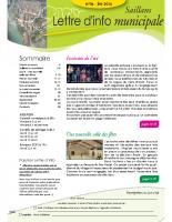 Lettre d'info n° 6 – été 2015