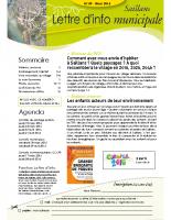Lettre d'info n° 9 – mars 2016 avec l'encart Spécial Bilan 2015