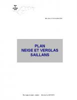Plan Neige et Verglas à Saillans