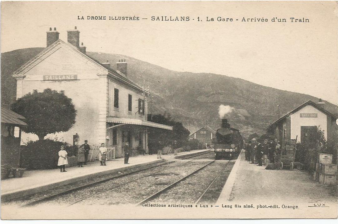 La gare en 1920
