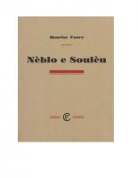 Maurise Faure – Nèblo e soulèu (recueil de poésies)