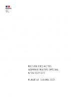 RAA SPECIAL N°26-2021-072