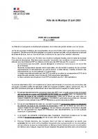 FËTE DE LA MUSIQUE 21 juin 2021- Protocole